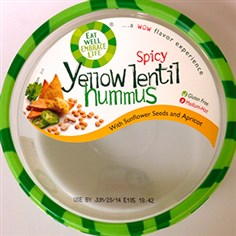 Spicy yellow lentil hummus Photo courtesy of the FDA Spicy yellow lentil hummus. It is part of the voluntary recall.