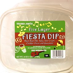 Trader Joe's Five Layer Fiesta Dip Photo courtesy of the FDA Trader Joe's five layer fiesta dip. It is part of a voluntary recall.