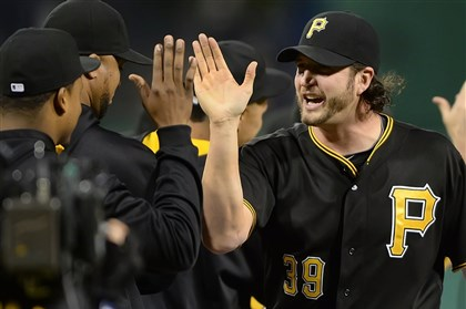 20140523pdPiratesSports06.jpg Pittsburgh Pirates closer Jason Grilli picks up save against the Nationals at PNC Park.