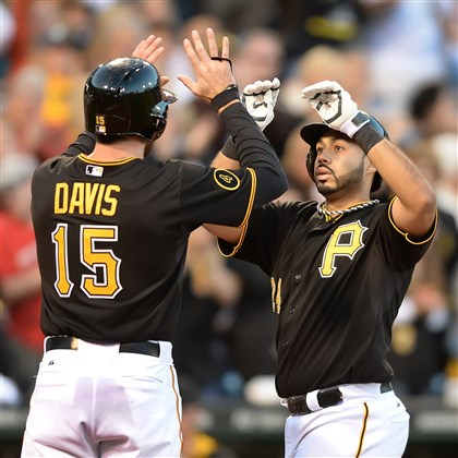 davisalvarez0525 Ike Davis has replaced Pedro Alvarez as the Pirates' cleanup hitter and it seems to be working so far.