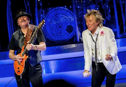 StewartSantana Carlos Santana, left, and Rod Stewart together on tour.