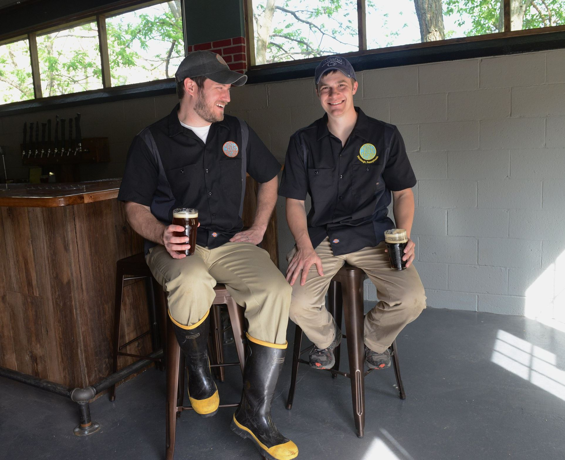 20140522rldGristHouse01_FOOD Co-owners and brewmasters Brian Eaton and Kyle Mientkiewicz.