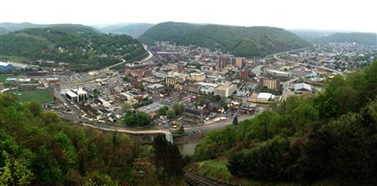 A recent view of Johnstown A recent view of Johnstown from the city's Incline. The river valley toward the top of the image is where the water poured into the city after the South Fork Dam failed, sending millions of tons of water through the valley and into Little Conemaugh River.