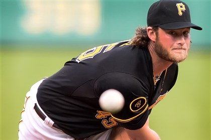 cole0525 Pirates starter Gerrit Cole delivers Saturday night against the Nationals at PNC Park.