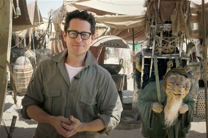 "J.J. Abrams, director of ""Star Wars: Episode VII In this video grab J.J. Abrams, director of ""Star Wars: Episode VII,"" talks to the fans from the movie set in the desert in Abu Dhabi, United Arab Emirates."
