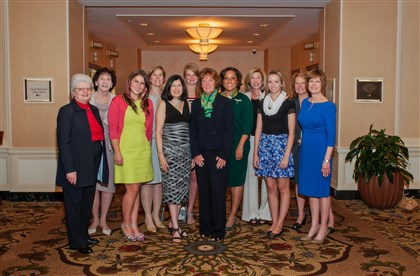 Girl Scouts Awards 2014 Girl Scouts Awards of Distinction winners, pictured left to right: Marilyn Michalka Egan, PhD, Pittsburgh Opera; Patricia Rote, Robotics Institute, Carnegie Mellon University; Lani Lazzari, Simple Sugars; Susan Baker Shipley, Huntington Bank; Ellen A. Roth, PhD, Getting to the Point, Inc., Honorary Event Chair; Veronica Brueggman, Senior, South Park High School; Patricia Burkart, CEO of Girl Scouts Western Pennsylvania; Candi Castleberry-Singleton, UPMC Center for Engagement and Inclusion; Patricia Siger, United Way of Allegheny County; Laura Sosovicka, Sophomore, North Allegheny High School; Jody Doherty, Comcast; and Patricia Dodge, Meyer, Unkovic & Scott LLP