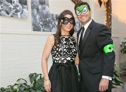 Black and White Gala Co-chair Erin Leland with husband Jared Leland.