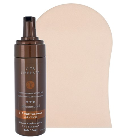 Vita Liberata pHenomenal 2-3 week tan mousse Vita Liberata pHenomenal 2-3 week tan mousse with mitt, $54 at vitaliberatausa.com.