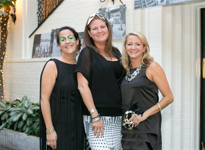 Seen black whiite gala Co-Chairs Maya Tuttle, Sarah Tuthill, and Amanda Carvelli. #SEENCoChairs