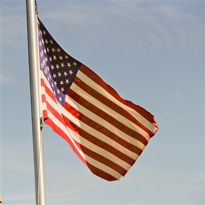 American flag in Homestead Cemetery Ms. Wisniewski has advice for the country, its leaders and its citizens