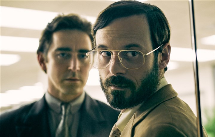 "20140526HACF0883Mag-1 Lee Pace and Scoot McNairy star in AMC's ""Halt and Catch Fire"" about the early years of the personal computing era."