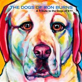 "Sirius, the explosive detection dog who died when the World Trade Towers went down, is on the cover of ""The Dogs of Ron Burns: A Tribute to the Dogs of 9/11."""