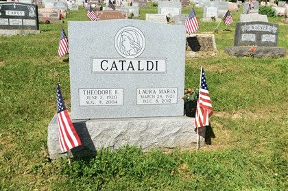 20140602hoPORTFOLIO0528page The Cataldi gravestone at St. Mary Help of Christians Cemetery