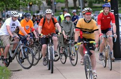 An estimated 75 riders took part  in the 10th Annual Ride of Silence in May, honoring cyclists who have been killed or injured while riding their bikes.