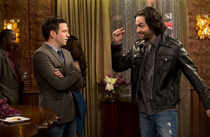 "Undateable Brent Morin as Justin Kearney and Chris D'Elia as Danny Burtonin ""Undateable."""