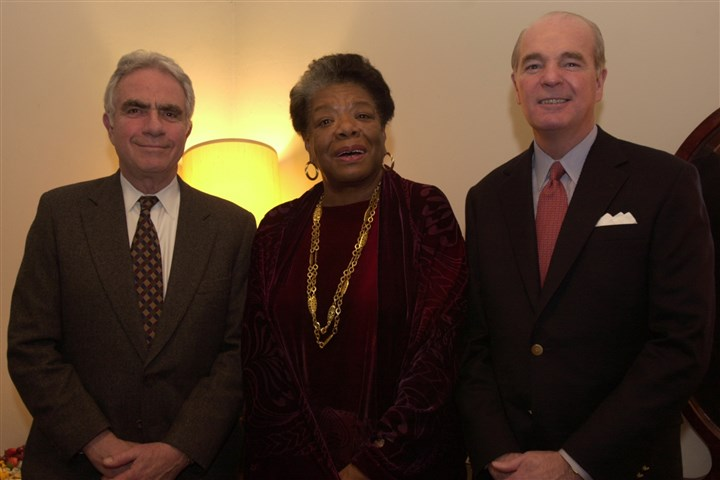 MayaAngelou2002  Herb Elish, Maya Angelou and Marty McGuinn, all backstage at the Carnegie Music Hall in Oakland in 2002.