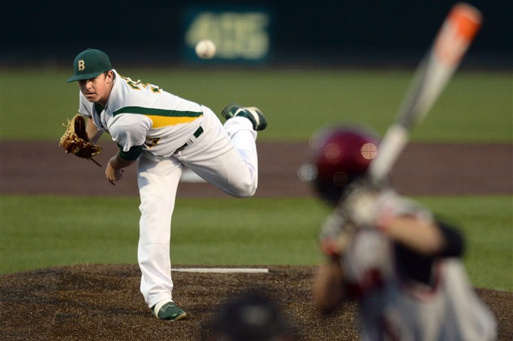 mfblackhawk2-25 Blackhawk's Brendan McKay pitches against West Allegheny in the WPIAL Class AAA championship Thursday.
