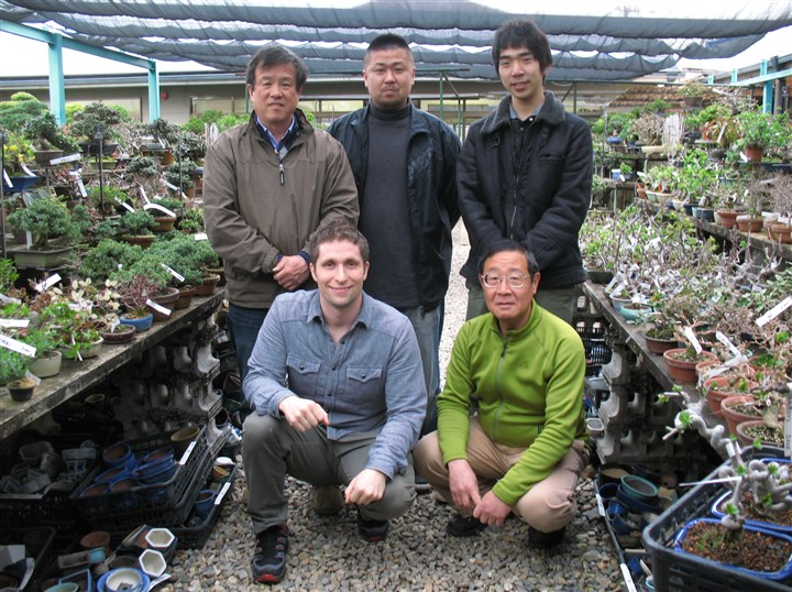 Daniel Yobp and his co-workers in Japan Daniel Yobp and his co-workers at the Yoshoen bonsai nursery where he worked at in Osaka, Japan.