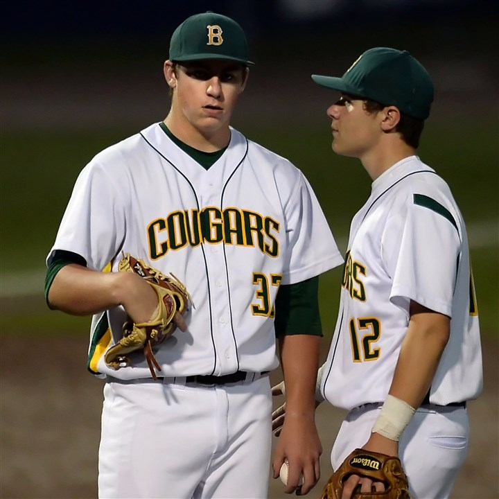 mckay0615 Blackhawk pitcher Brendan McKay (left) likely wasn't drafted higher because of his desire to play in college at Louisville.