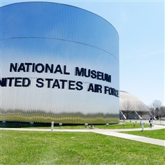 The National Museum of the United States Air Force  The National Museum of the United States Air Force at Wright-Patterson Air Force Base near Dayton, Ohio, has more than 17 acres of indoor exhibit space, with more on the way.