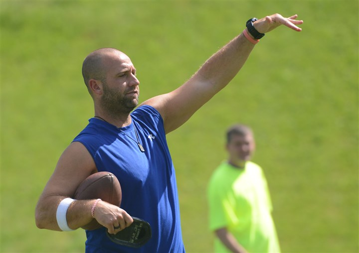 Jeff Reed Pittsburgh Steelers Jeff Reed at the 12th Annual Steelers Men's Fantasy Camp at St. Vincent College in Latrobe on Saturday.