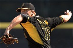 Pirates pitching prospect Jameson Taillon, throws two scoreless frames against the Blue Jays at Florida Auto Exchange Stadium in Dunedin, Florida during spring training.