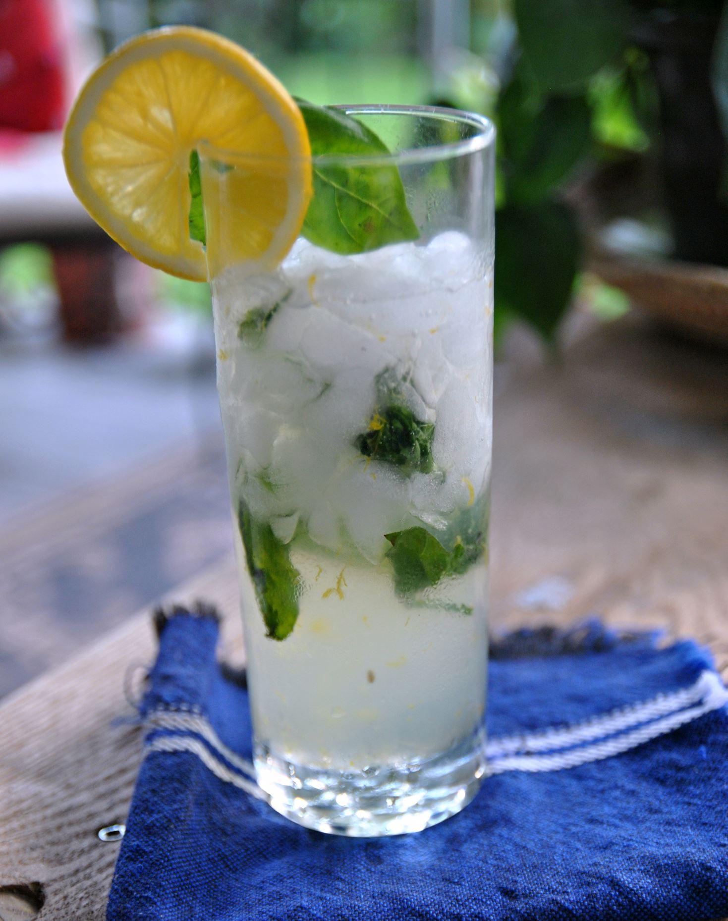 basilcocktail0605a Lemon Basil Blossom Cocktail.