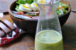 Simple Green Salad with Buttermilk Herb Dressing