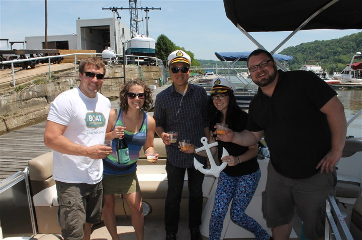 portfolio0603 Boat Pittsburgh's maiden voyage crew, from left: Mike Fifth, Nicole Moga, Phillip Wu, Leslie Kolenda and Cody Walters.