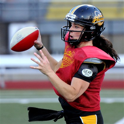 Pittsburgh Passion QB Lisa Horton Pittsburgh Passion QB Lisa Horton has thrown for 10,000 career yards, the first woman to reach that mark.