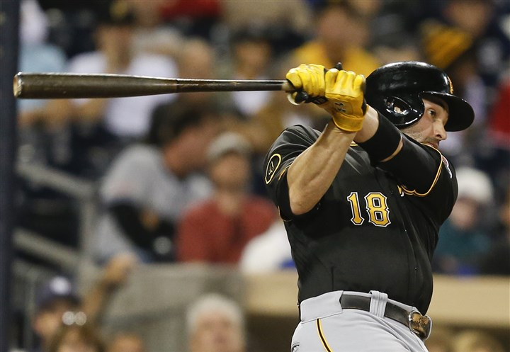 bucnot2 Pirates' second baseman Neil Walker has been swinging a hot bat, but was rested Wednesday night against the Padres.