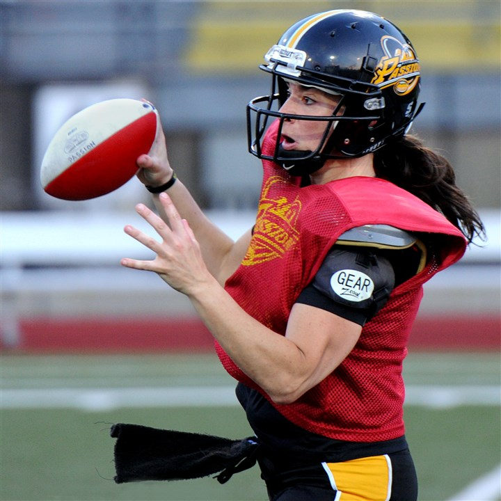 Pittsburgh Passion QB Lisa Horton Pittsburgh Passion QB Lisa Horton at a June practice at Cupples Stadium in the South Side.