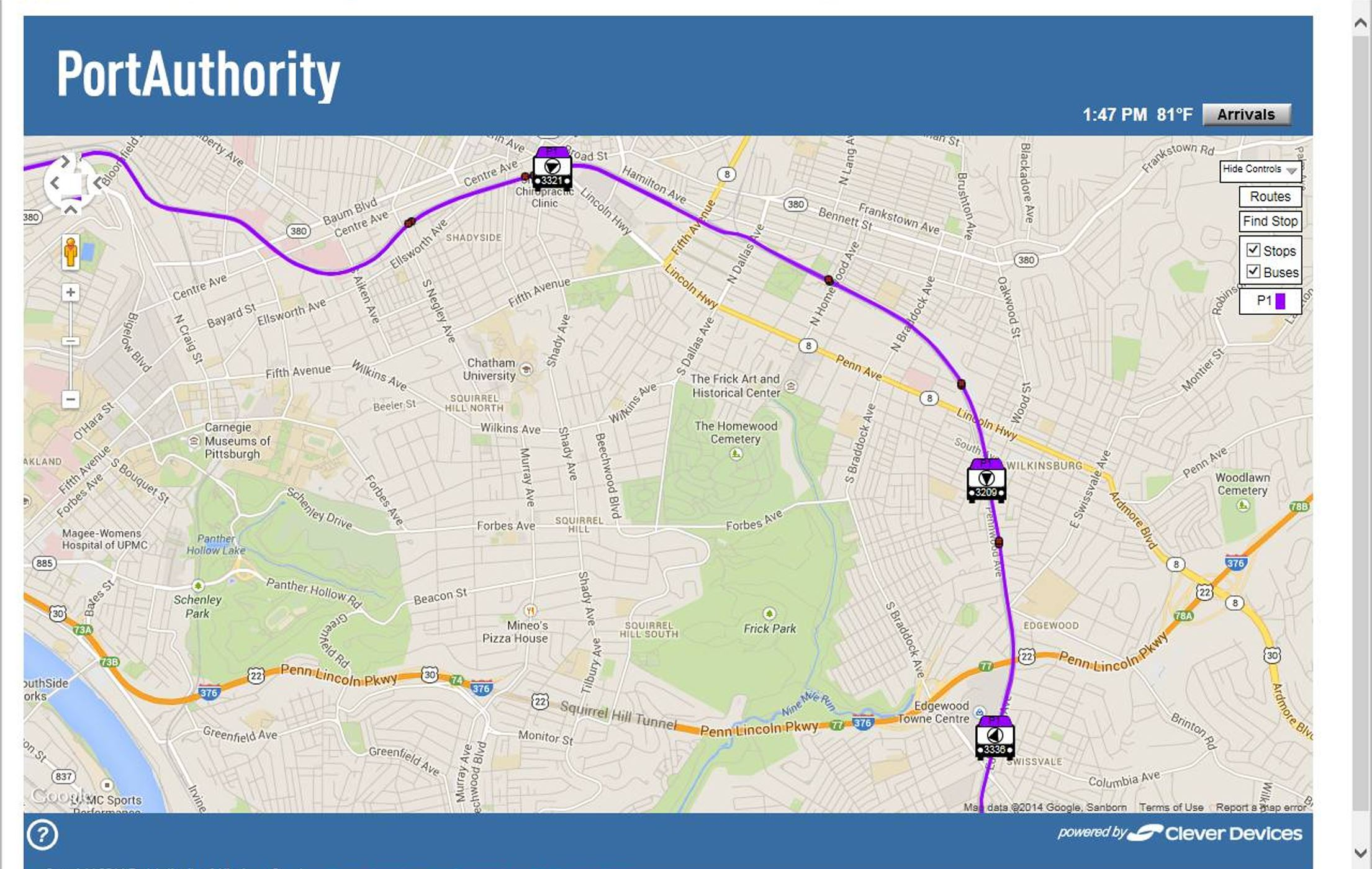 Pittsburgh Port Authority Bus Tracker Keeps Electronic