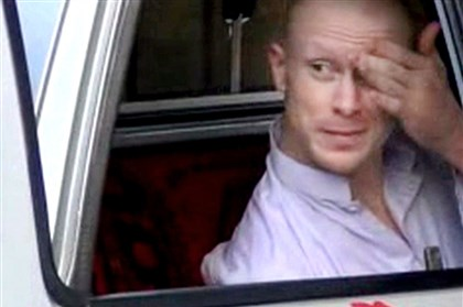 Afghanistan Captured Soldier Sgt. Bowe Bergdahl sits in a vehicle guarded by the Taliban in eastern Afghanistan before he was released in exchange for Taliban prisoners.