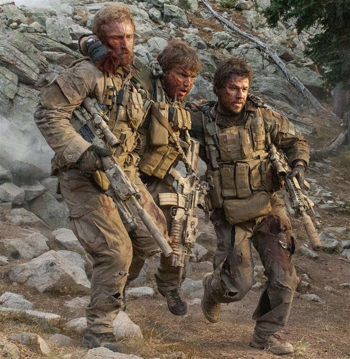 "20140605HOLoneSurvivorDVD Starring in ""Lone Survivor"" are, from left, Ben Foster, Emile Hirsch and Mark Wahlberg."