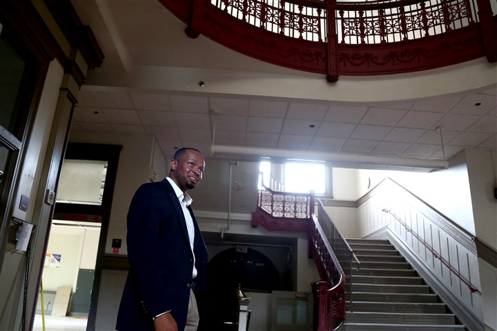 Emeka Owugbenu Emeka Owugbenu gives a tour of the one of his development properties in Lawrenceville, the former McCleary Elementary School.