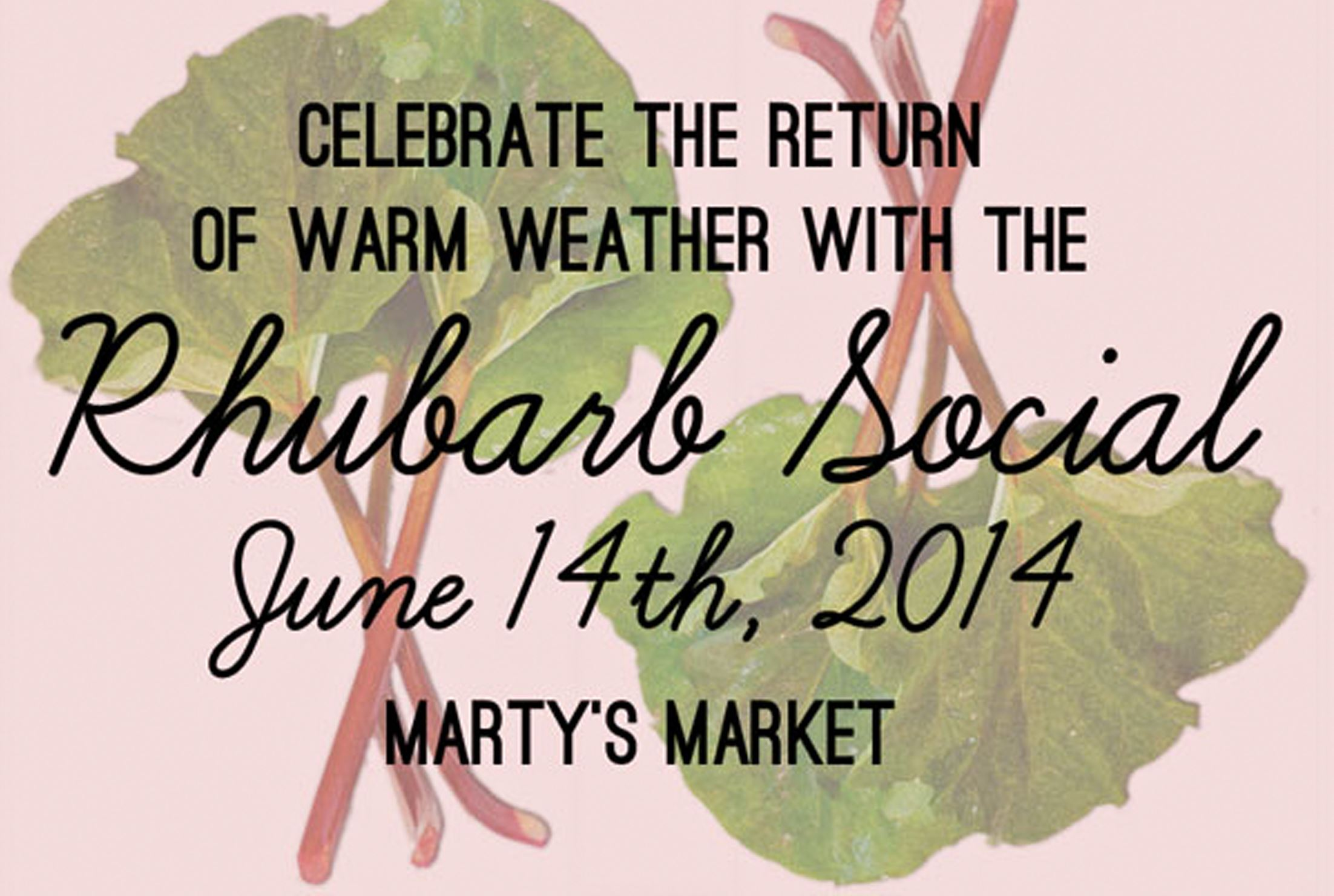 20140604RhubarbFood-1 Logo for the upcoming Rhubarb Social at Marty's Market.