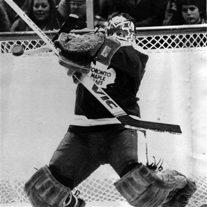 20140606hoSpoRutherford03 Jim Rutherford of the Toronto Maple Leafs is all eyes as he gets ready to stop a shot on goal during the National Hockey League game against the Hartford Whalers Friday Jan. 30, 1981 at the Hartford Civic Center.