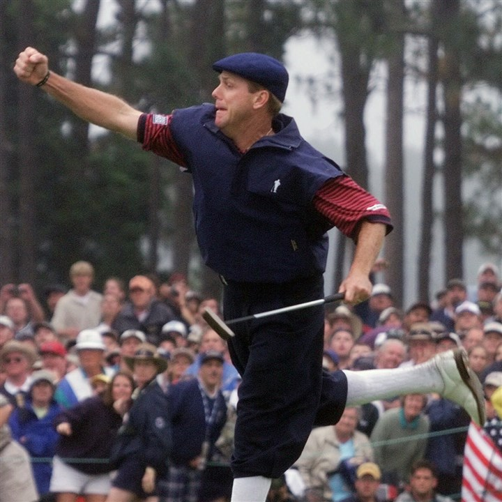 Payne Stewart's memorable 1999 celebration. Payne Stewart's memorable 1999 celebration.