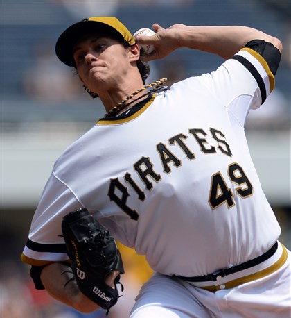 20140608mfbucssports03-2 Pirates' Jeff Locke pitches against the Brewers June 8 at PNC Park.
