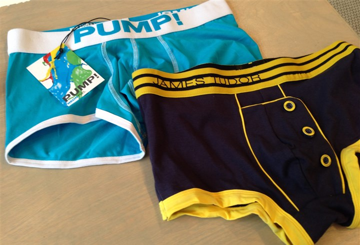 PUMP! and James Tudor underwear at Trim Pittsburgh PUMP! and James Tudor are two of the many designer underwear brands Trim Pittsburgh offers for men.