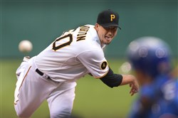 Charlie Morton delivers a pitch for the Pirates against the Cubs last season.