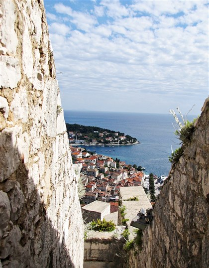 island of Hvar  The citadel crowning the island of Hvar was built by the Venetians in 1550.