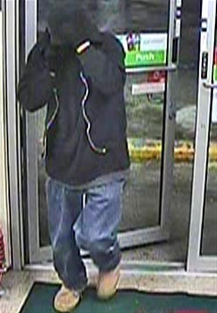 7-11 robberyA.jpg Surveillance video shows a man who robbed a 7 Eleven on Thompson Run Road in Ross Township.