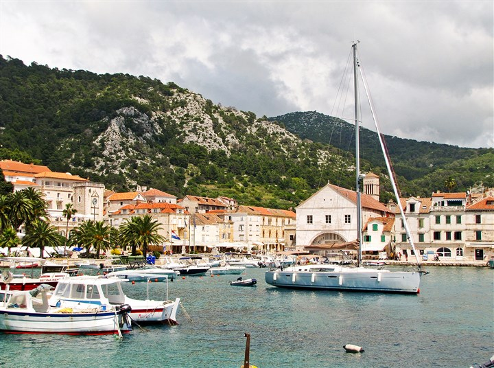 Hvar, an island harbor Hvar, an island harbor since the 15th century, is one of the Croatian coast's scenic highlights.