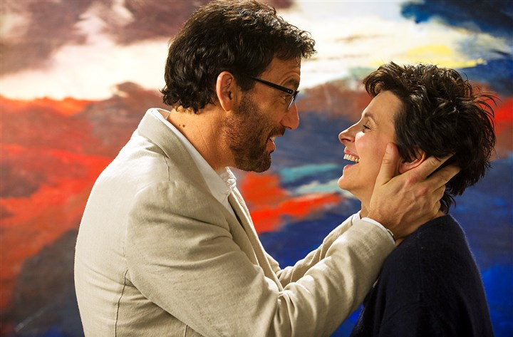 "20140613WordsandPictures3-2 Clive Owen and Juliette Binoche star in ""Words and Pictures."""