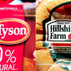 Tyson Hillshire Meat producer Tyson Foods Inc. has won a bidding war for Hillshire Brands, the companies announced Monday.