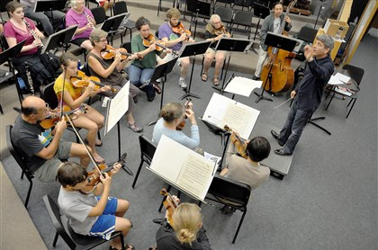 20140615orchestra2 Ronald Braunstein conducts the Me/2 Orchestra.
