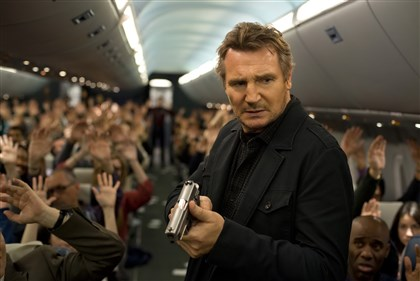 "20140612HONonStopDVD-2 Liam Neeson stars in ""Non-Stop,"" a suspense thriller played out at 40,000 feet in the air."