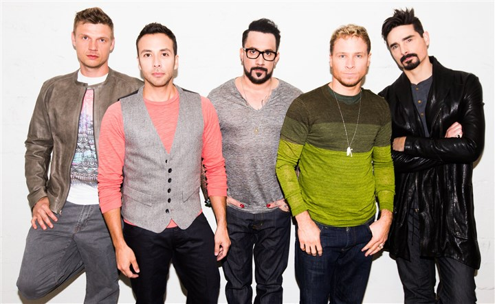 "The Backstreet Boys The Backstreet Boys are, from left, Nick Carter, Howie Dorough, A.J. McLean, Brian Littrell and Kevin Richardson. The band will bring the ""In a World Like This"" tour to Pittsburgh June 14 at First Niagara Pavilion."